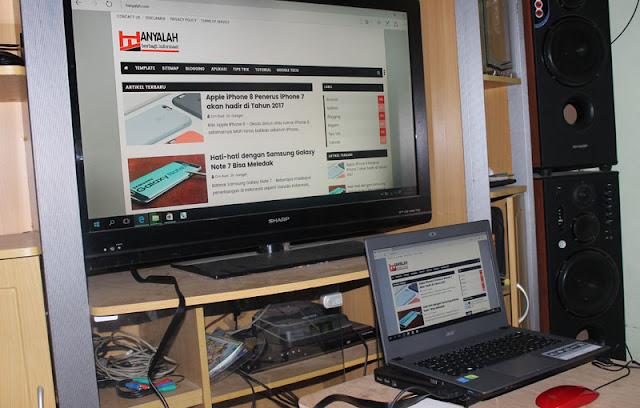 Cara menghubungkan Laptop ke layar televisi