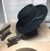 Vaquero flat brim furfelt black hat by Ken Lee Custom hats in NYC