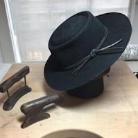 Vaquero flat brim furfelt black hat by Ken Lee Custom hats in NYC