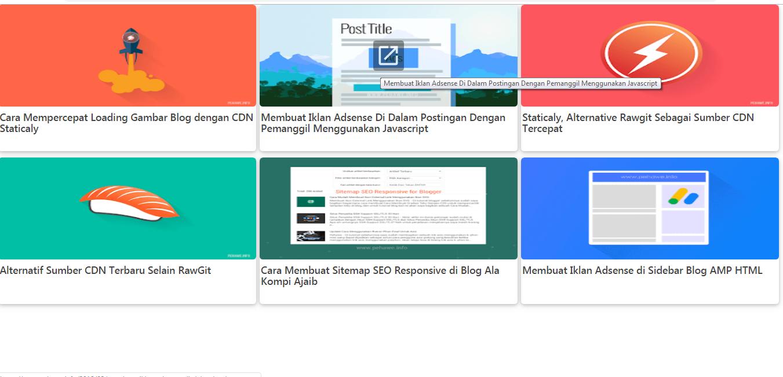 Cara Membuat Related Post Seperti Iklan Matched Content Ala pehawe.info Lebih Responsive