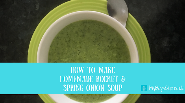 How to Make Homemade Rocket & Spring Onion Soup gluten free dairy free