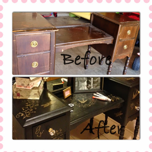 Antique Vanity Table Makeover