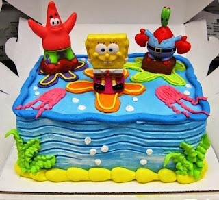 Contoh kue ulang tahun pertama spongebob buat anak