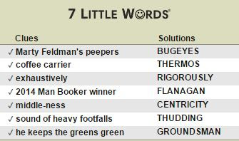 July 1 2016 - 7 Little Words Daily Puzzles Answers