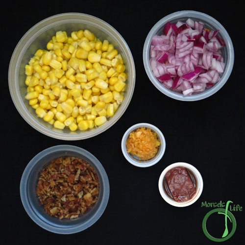 Morsels of Life - Chipotle Bacon Corn Salad Step 1 - Gather all materials.