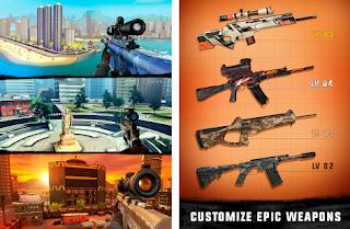 Sniper 3D Assassin Apk Mod v2.16.9 Gold+Gems Gun Shooter for android