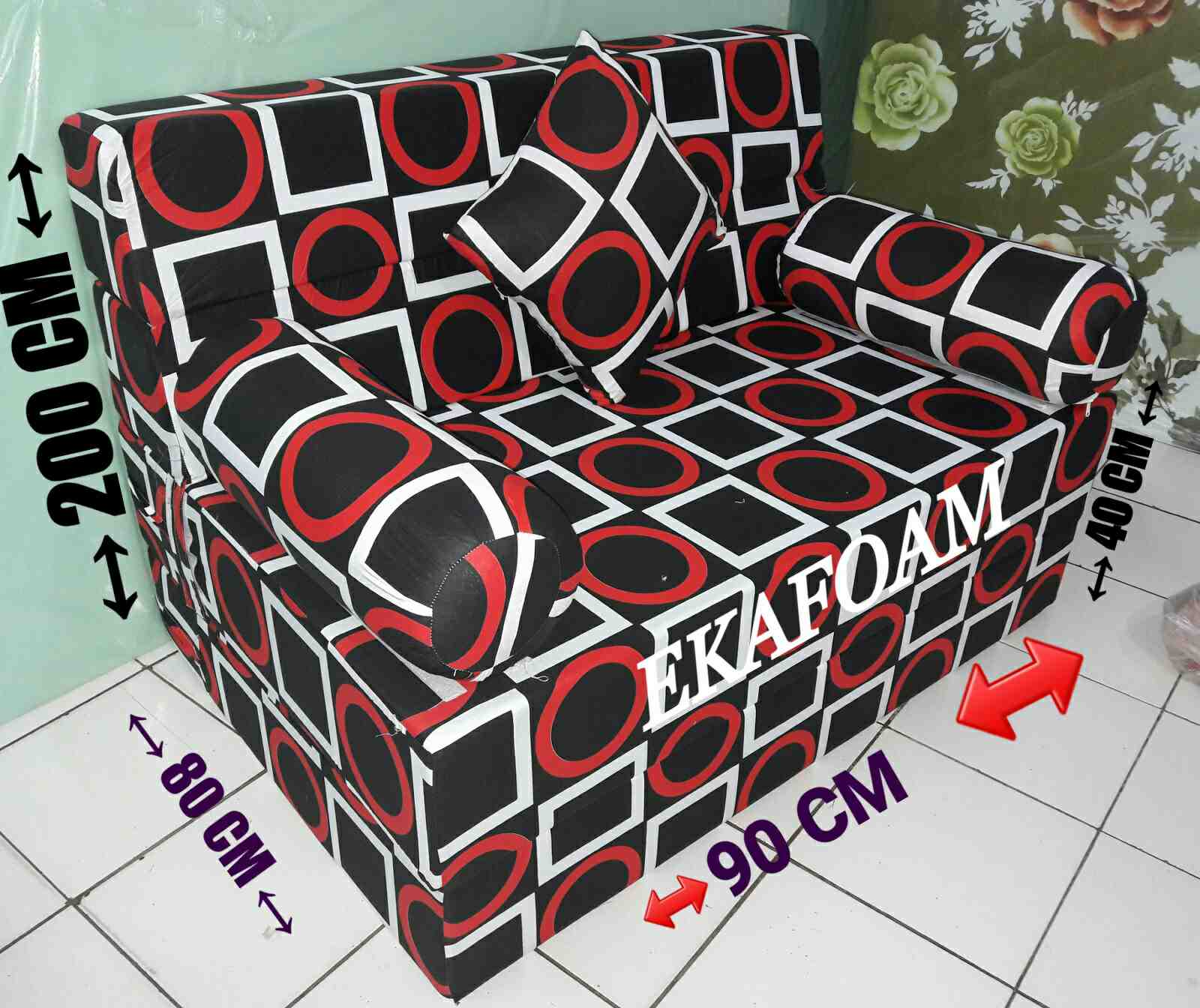 sofa bed single lazada jonathan louis alexis reclining microfiber sectional terbaru 2017 | baci living room