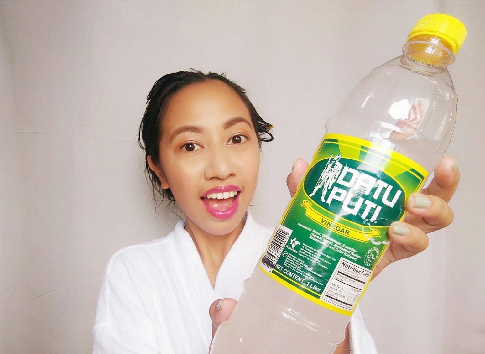 Datu Puti vinegar, haircare hacks, cheap anti-dandruff treatment, anti-dandruff