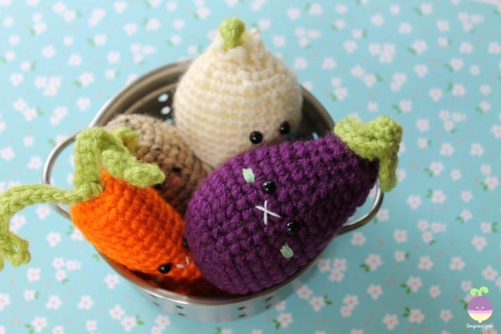 Amigurumi Vegetables : Amigurumi vegetables pattern kalulu for