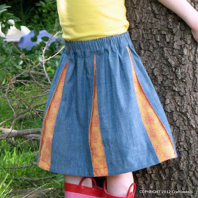 Pleated Skirt from Craftiments.com