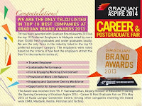We are the Only Telco Listed in Top 10 Companies at Graduan Brand Awards 2013