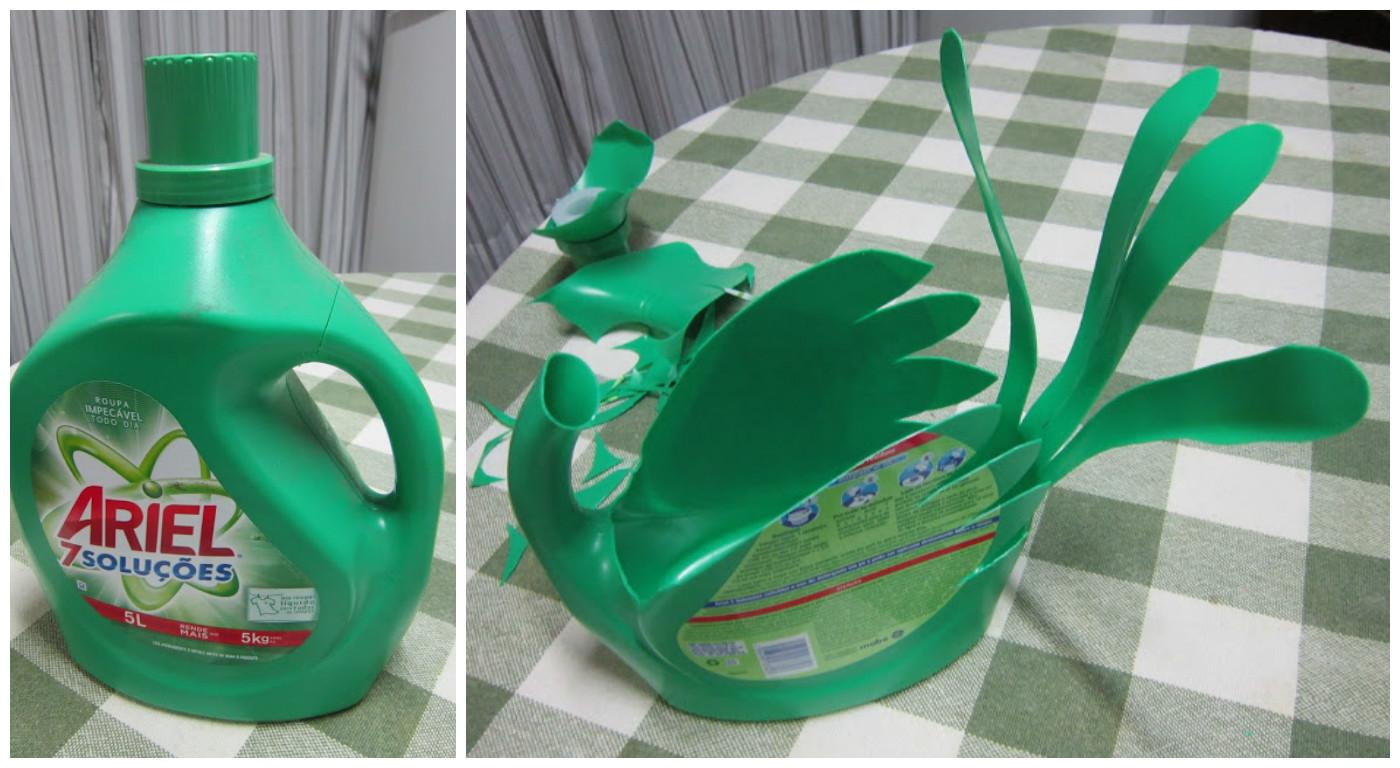 C mo reciclar botellas grandes de detergente lodijoella - Como hacer maceteros grandes ...