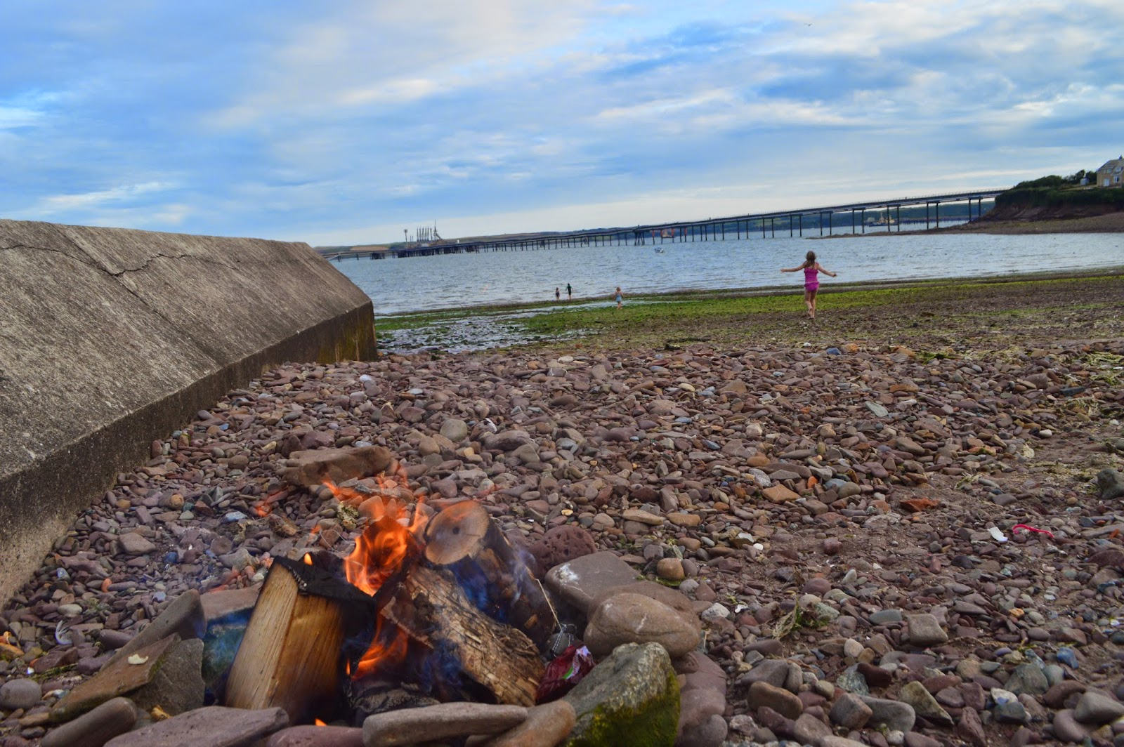 , A Cosy Family Beach Fire
