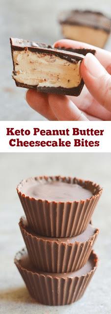 Keto Peanut Butter Cheesecake Bites #keto #peanutbutter #cheesecake #ketodesserts