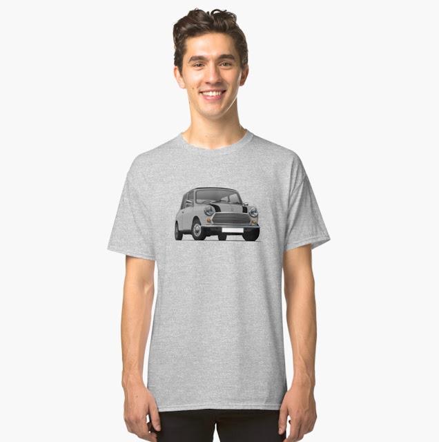 Grey Morris Mini - Austin Mini Cooper T-shirts