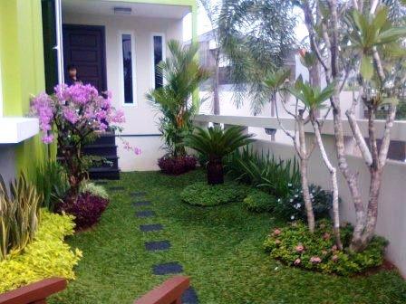 30+ desain taman depan rumah minimalis sederhana - rumahku
