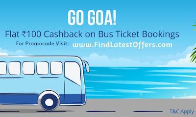 Go Goa Paytm Bus offer promocde banner