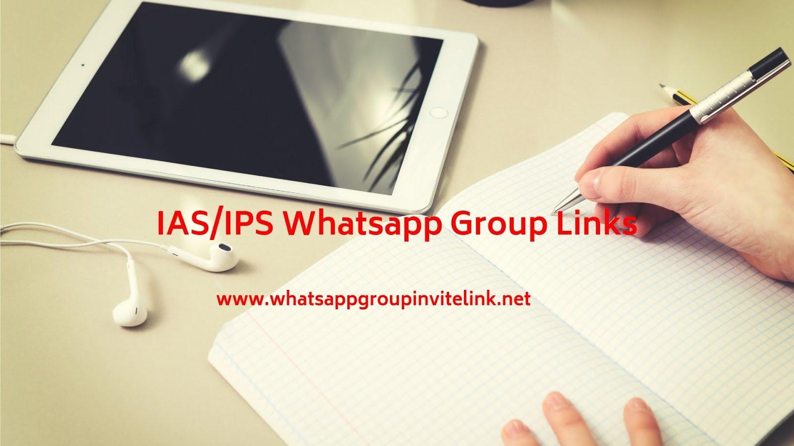 Whatsapp Group Invite Links: IAS/IPS Whatsapp Group Links