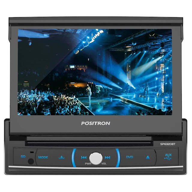 DVD player automotivo Pósitron com tela 7