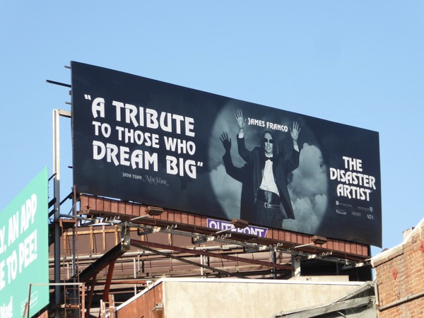 Disaster Artist movie FYC billboard