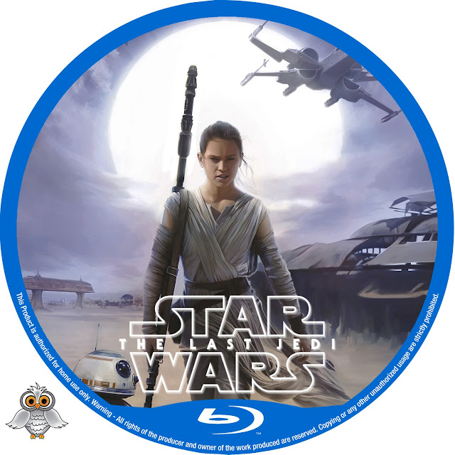 Star Wars The Last Jedi Bluray Label