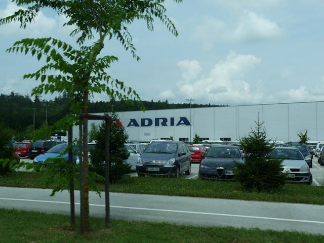 Foto de la Fábrica de Adria en Eslovenia. Ruta autocaravana Eslovenia