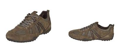 Zapatillas piel color topo de Geox