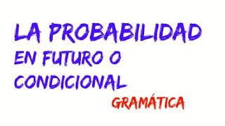Expresar la probabilidad en futuro o condicional