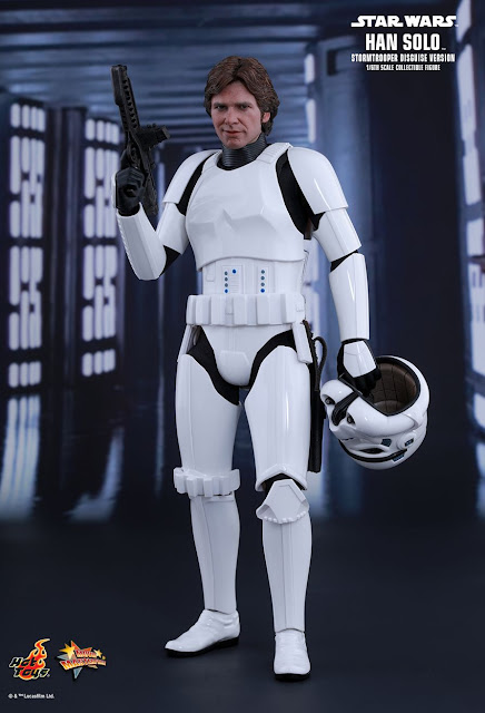 "osw.zone Hot Toys MMS418 Star Wars 1/6 Scale Han Solo (Stormtrooper Disguise Version) 12 ""Figure"