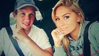 Justin Abdelkader Girlfriend Julie In Car