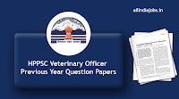 HPPSC Veterinary Officer Previous Year Question Papers