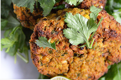 Natively constructed veggie burgers #food
