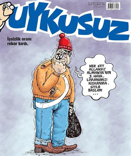Uykusuz Dergisi | 23 Şubat 2017 Kapak Karikatürü
