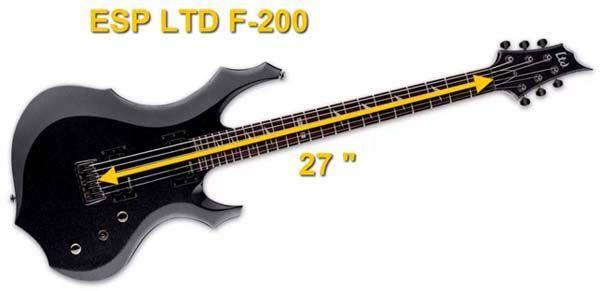 Guitarra Barítono de 27 Pulgadas de Escala ESP LTD F-200