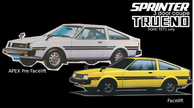 Jenis-Jenis Toyota Sprinter trueno