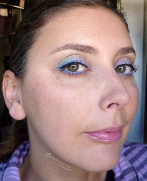 Playing with pastels for a spring makeup look!