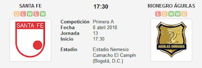 Santa Fe vs Rionegro Águilas en VIVO