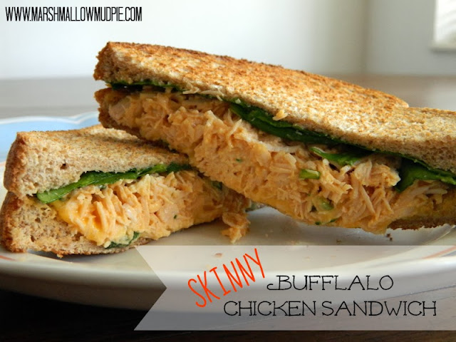 skinny buffalo chicken sandwich