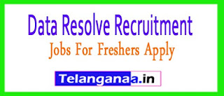 Data Resolve Recruitment 2017 Jobs For Freshers Apply