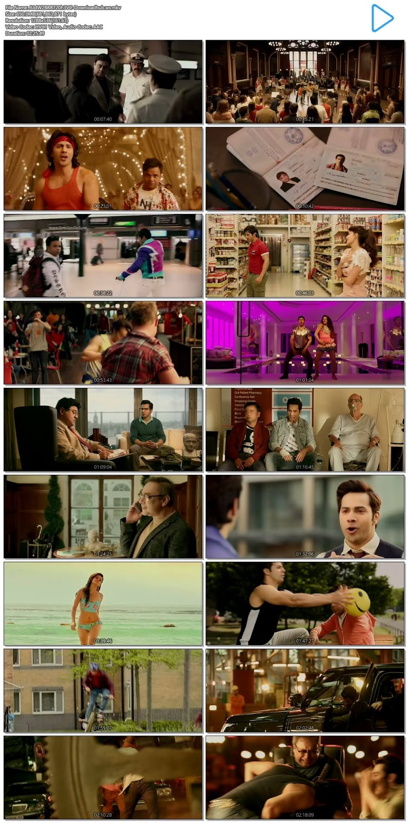 Judwaa 2 2017 Hindi 720p HEVC BluRay ESubs