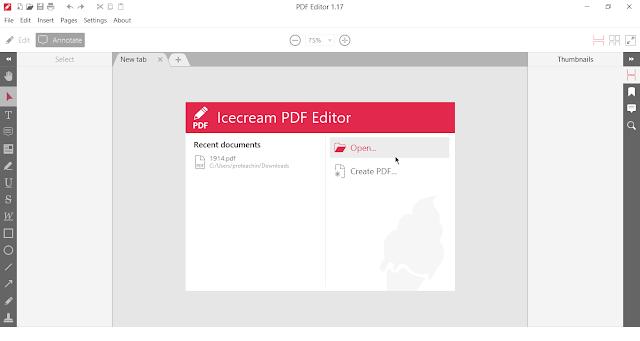 Icecream PDF Editor إنشاء وتعديل ملفات PDF