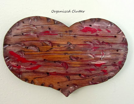 Thrift Shop Hearts to Faux Reclaimed Wood Hearts