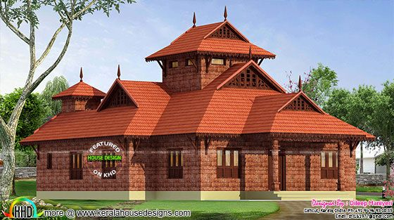 Traditional laterite 1748 sq-ft home