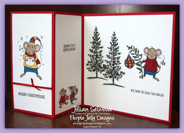 Merry Mice Z Fold Christmas Card