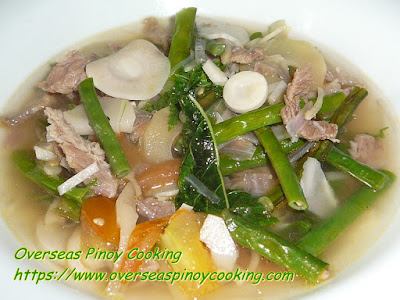 Dinengdeng with Beef Soured with Tamarind Dish