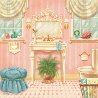 Imágenes Retro de Baños de Mujer.