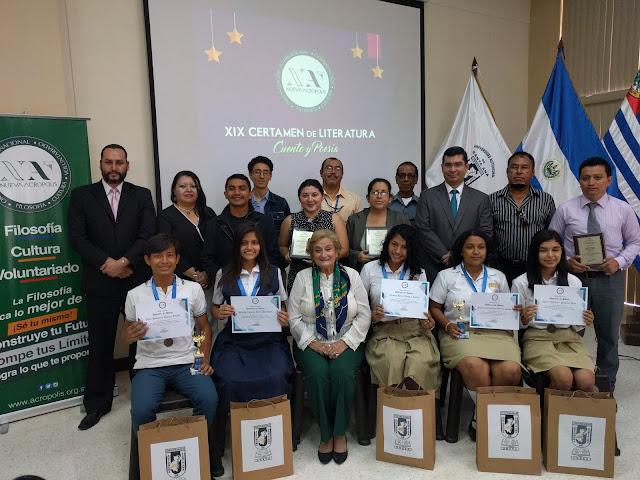 Nueva Acrópolis entregó Becas Universitarias en Certamen de Literatura en Santa Ana, El Salvador