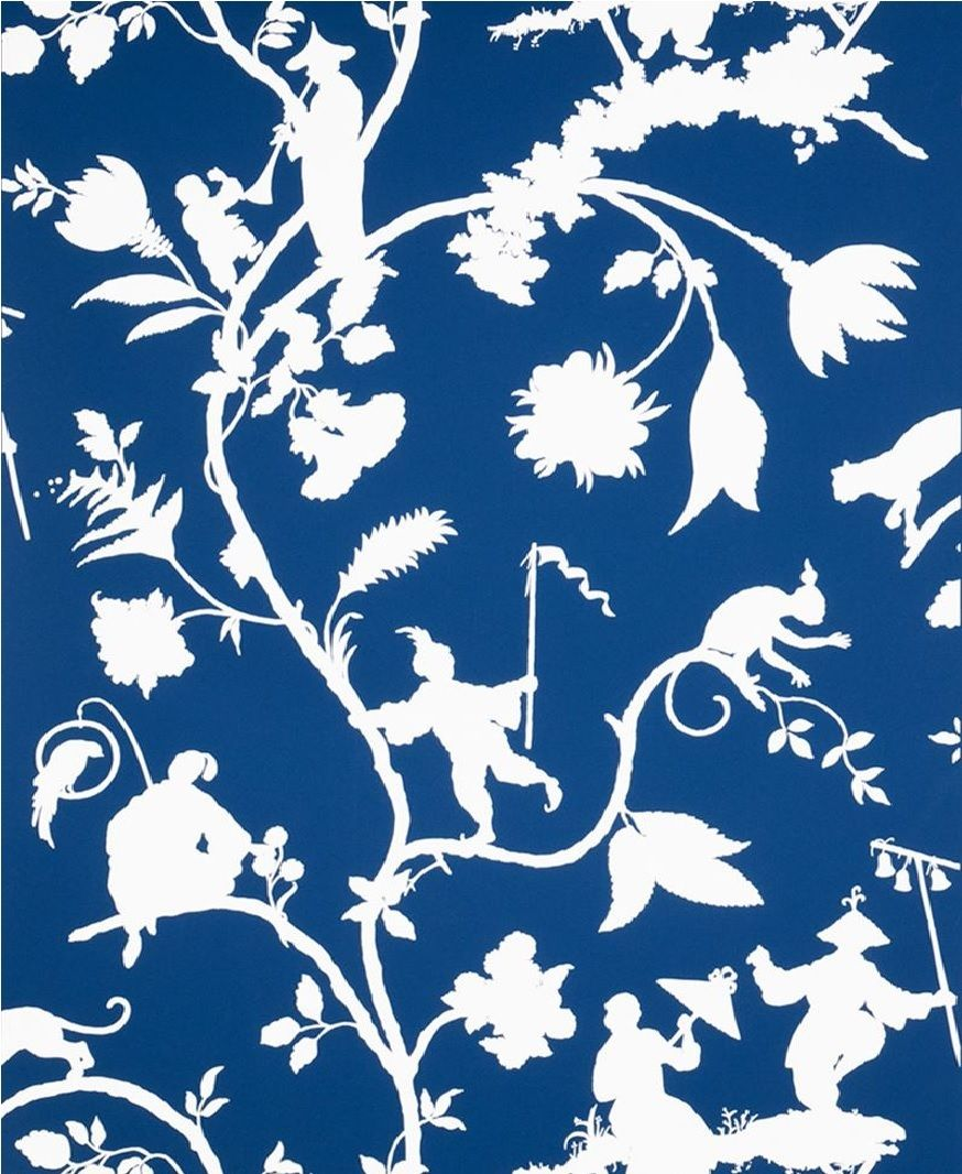 5 Yards Of Stroheim And Romann Cathay Pastoria Blue White Chinoiserie Toile Fabric For 70 40