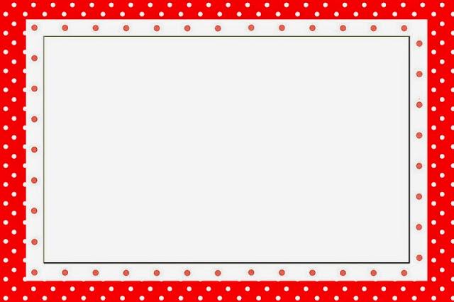 lunares rojos y blancos invitaciones para imprimir gratis