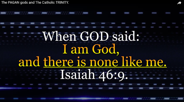 when GOD said: I am God, and there is none like me. Isaiah 46:9.